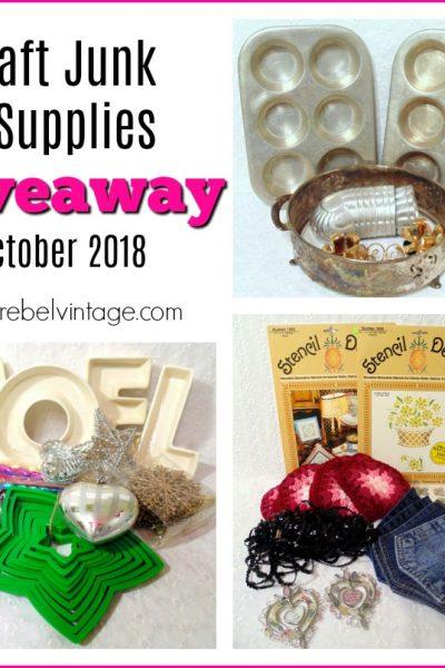 Craft Supplies and Vintage Junk Giveaway October 2018 Thrifty Rebel Vintage