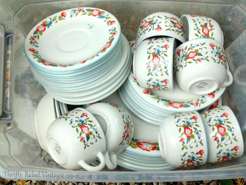 Crown Dynasty Dinnerware set found at thrift store