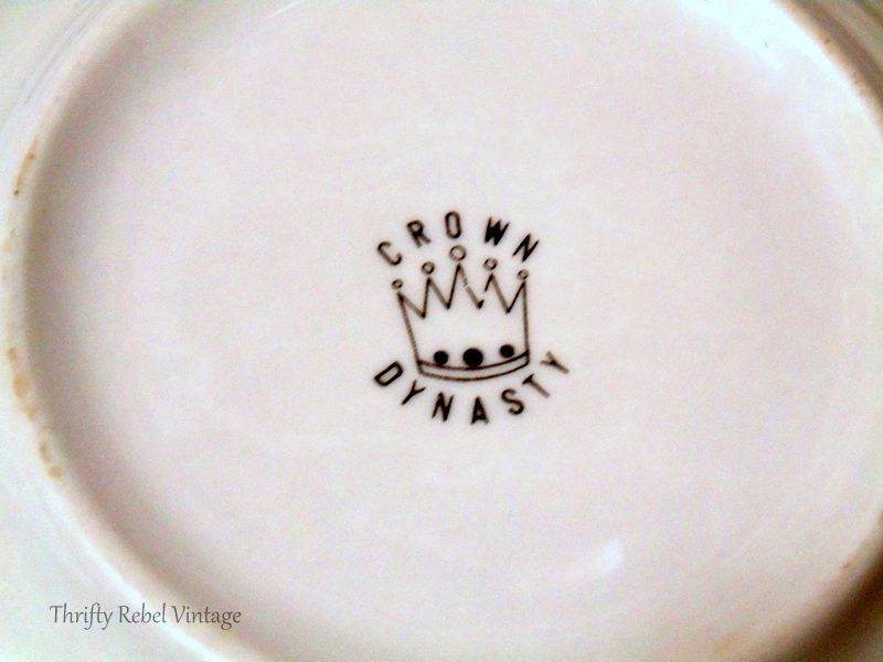 Crown Dynasty Dinnerware trademark on bottom of dishes