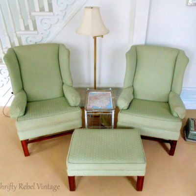 Living Room Makeover Update: Wing Chairs