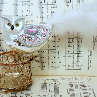 Fabulous Finds Friday: Mercury Glass Owl Ornaments