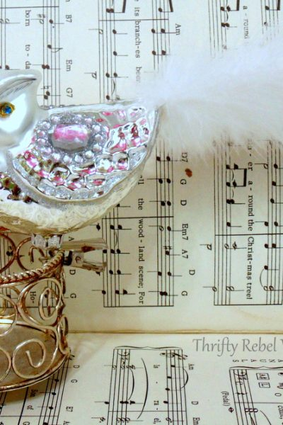 vintage mercury glass owl Christmas ornaments