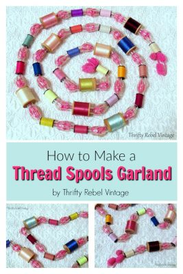 How to Make a Repurposed Thread Spools Garland