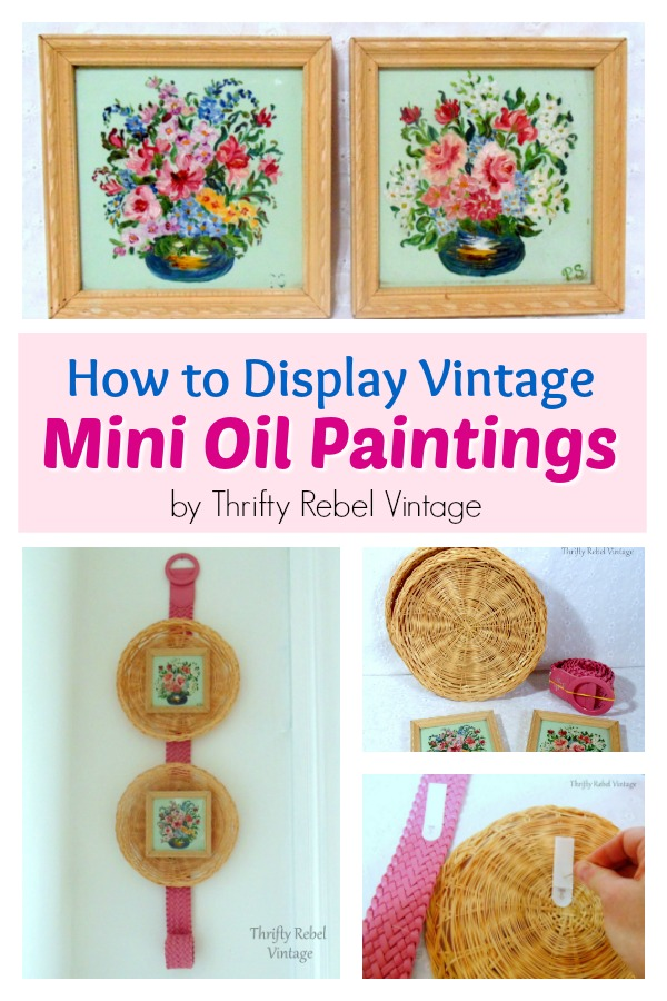 How to display vintage mini flower paintings to give them more impact