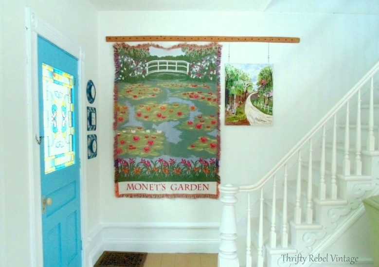 How to turn a throw into a wall hanging piece of art