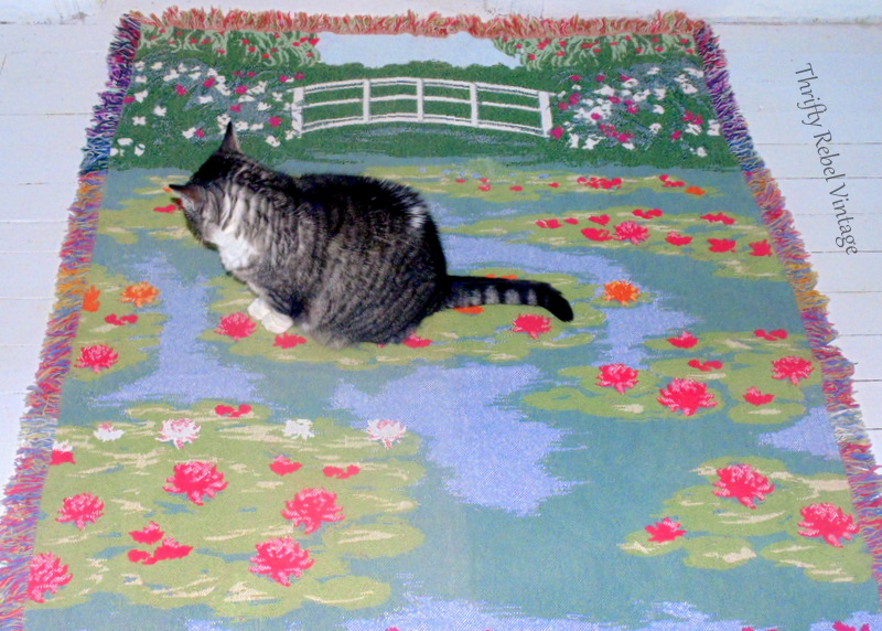 Monet water lily pond throw