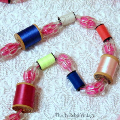 Repurposed Thread Spools Garland