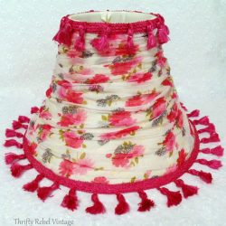 DIY Lampshade Makeover With Floral Scarf