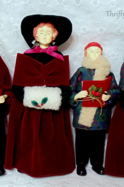 vintage caroller doll family Fabulous Finds Friday Giveaway by Thrifty Rebel Vintage