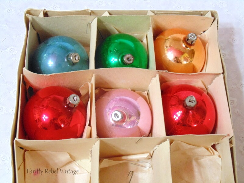 Made in Poland vintage glass ornaments