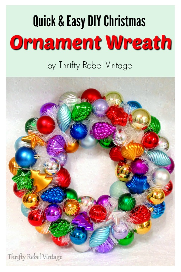 Quick and Easy DIY Christmas Ornament Wreath