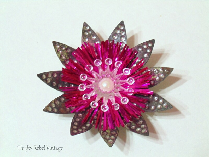 glued faux pearl into center of light relfectors for flower ornaments