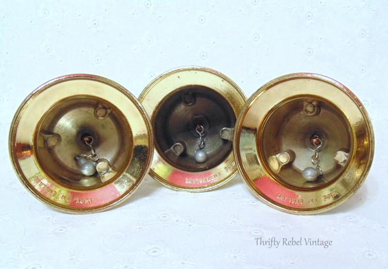 Made in England 3 brass bells set