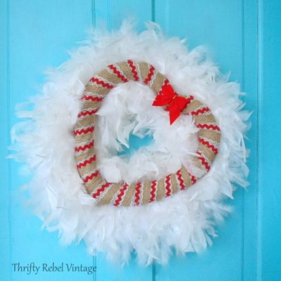 Valentine's Day Winter Heart Wreath