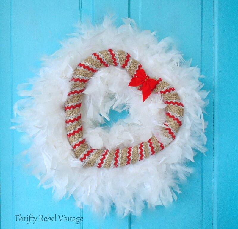 Valentine's Day Winter Heart Wreath