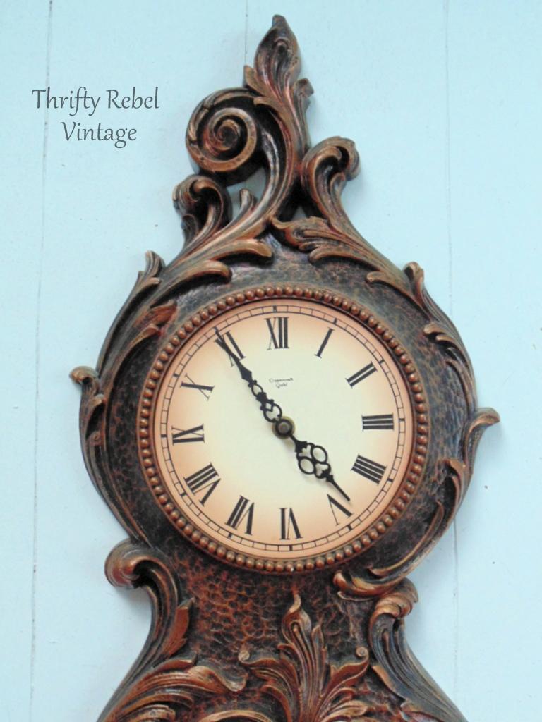 Vintage Syroco pendulum wall clock 2