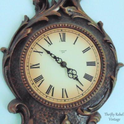 Vintage Syroco pendulum wall clock 4