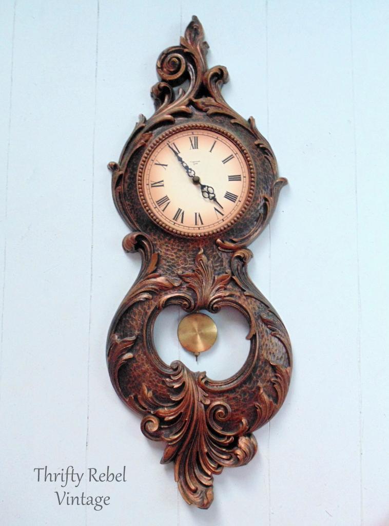 Vintage Syroco pendulum wall clock
