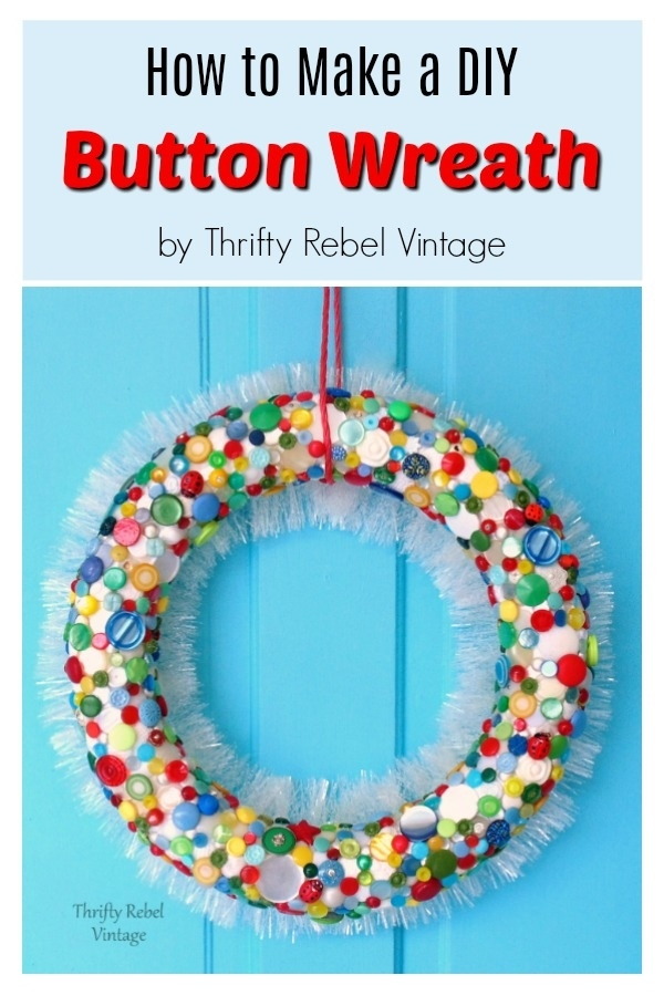 How to create a fun and colorful diy button wreath