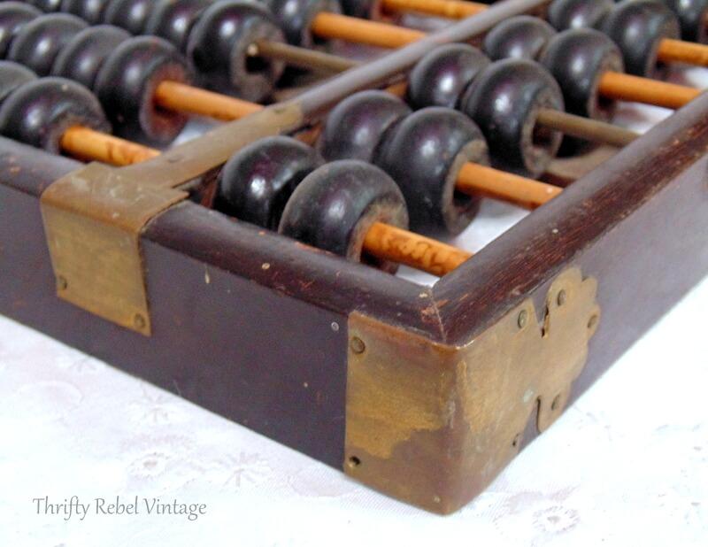 two vintage wooden Lotus Flower abacuses 3