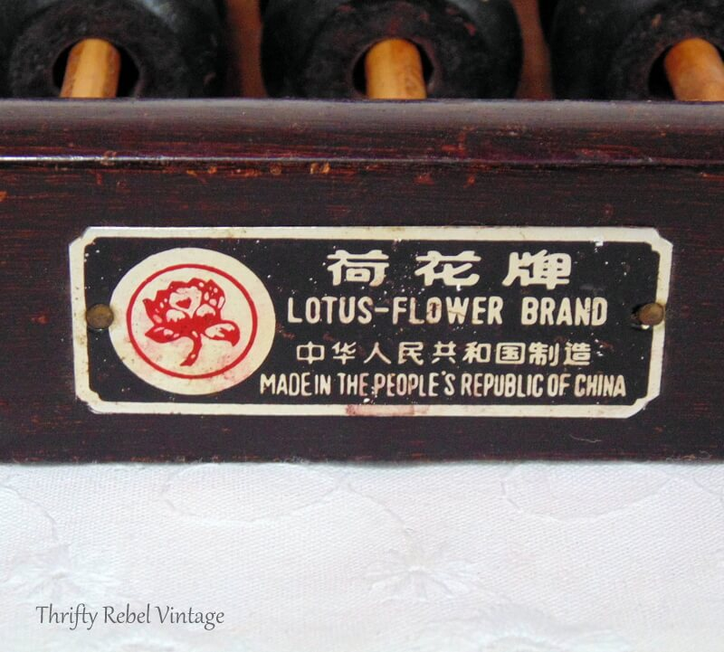 two vintage wooden Lotus Flower abacuses 5