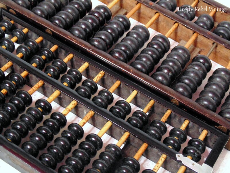 two vintage wooden Lotus Flower abacuses 8