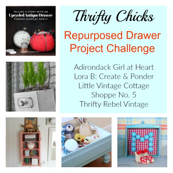 Thrifty Chicks Drawer Project Challenge collage
