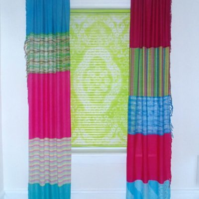 How to Make No Sew Curtains From Scarves