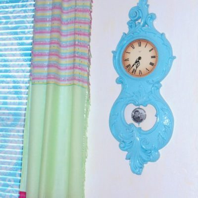 Spray Painted Clock Makeover