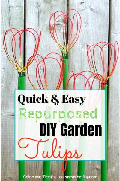 How to create quick and easy diy garden tulips from repurposed whisks