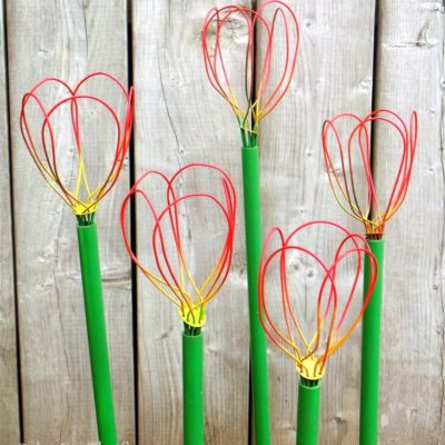 Repurposed Whisks Made Into Garden Tulips