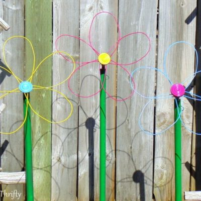 Repurposed Whisk Flower For The Garden