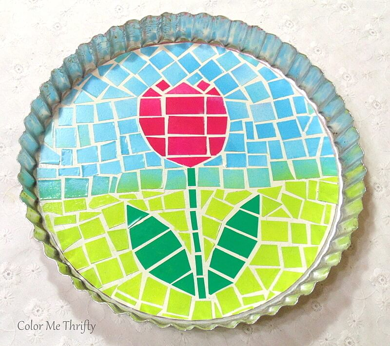 quick and easy faux mosaic tulip art project