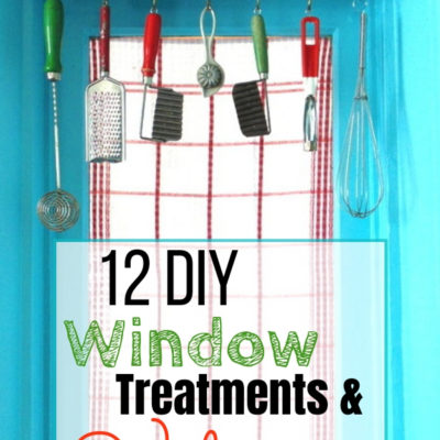 12 DIY Window Treatments & Valances that anyone can create