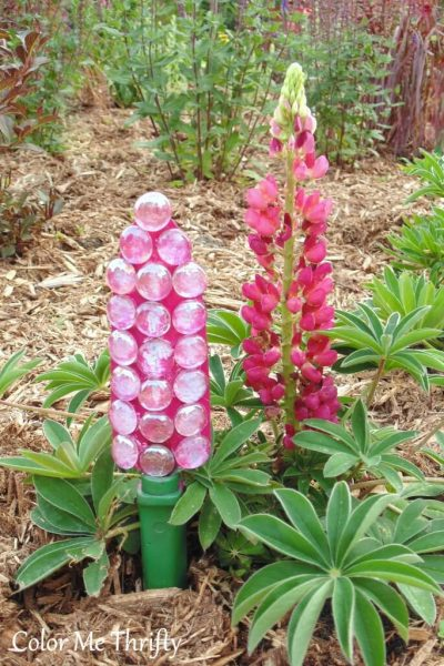 Garden trowel repurposed into garden flower