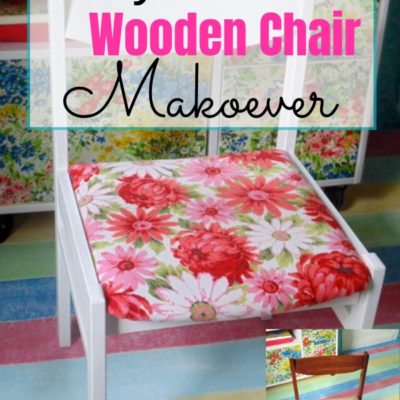 How to recover a chair seat to give a dated wooden chair a whole new look.