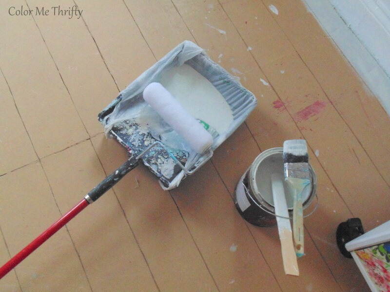 paint supplies for painting living room floor