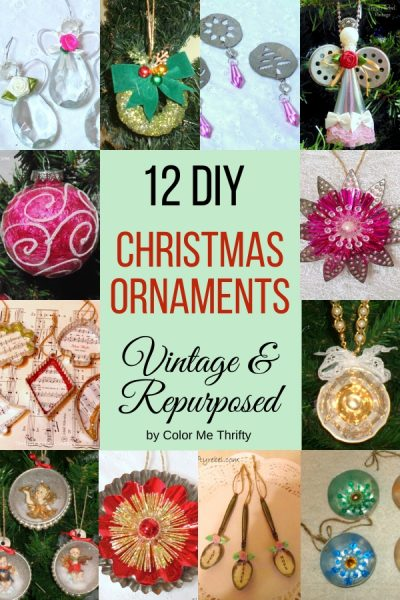 12 DIY Vintage and Repurposed Christmas Ornaments