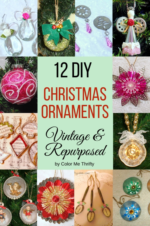12 Diy Repurposed Christmas Ornaments Color Me Thrifty