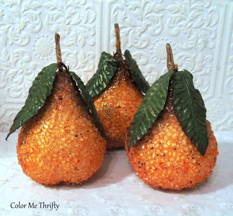 3 beaded pears