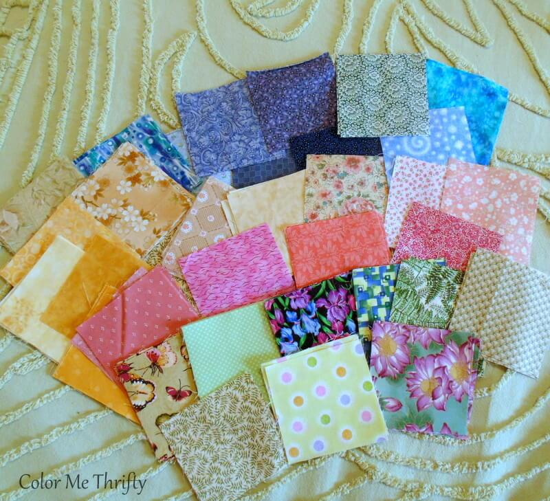 4 inch quilt squares used for top of dresser