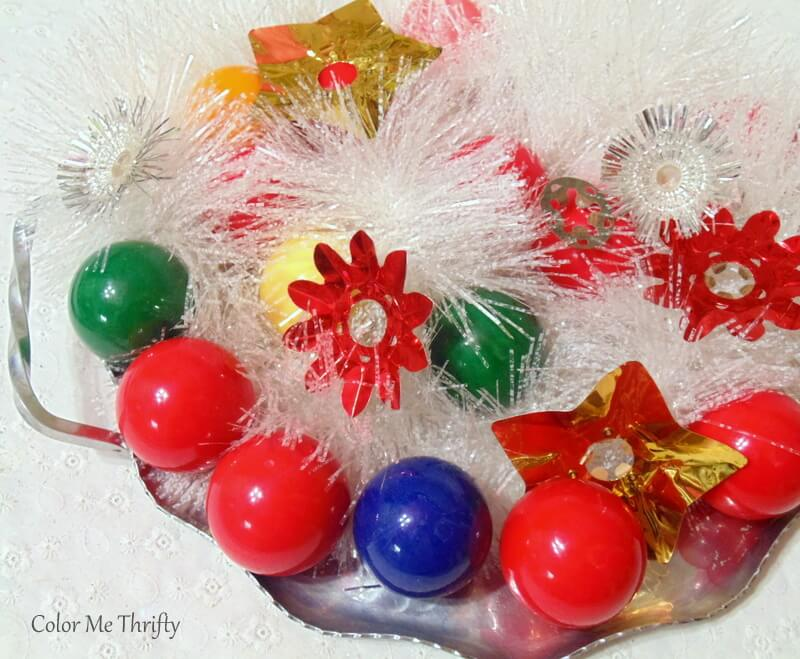 Christmas tree centerpiece from snooker balls