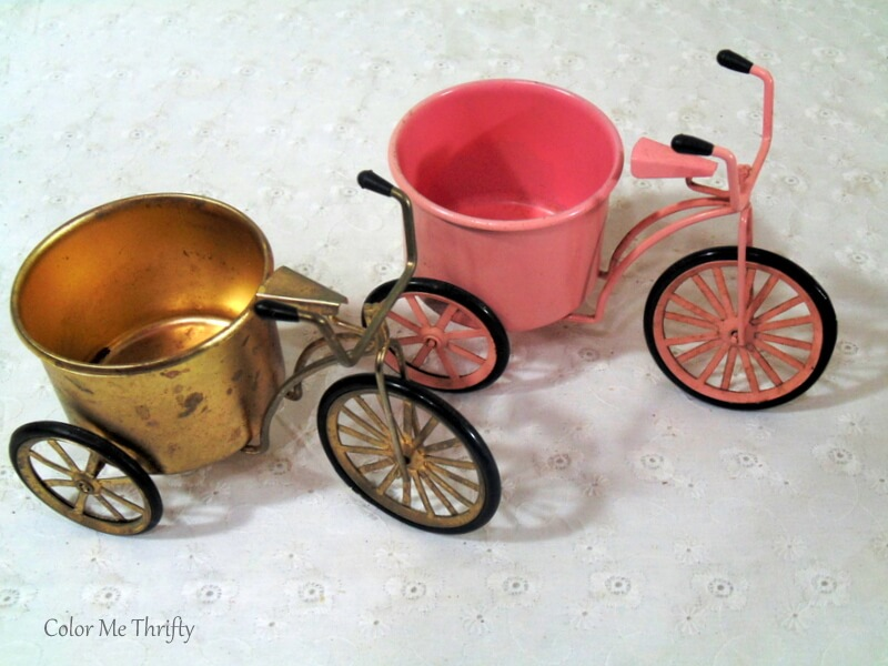decorative minuture tricycles