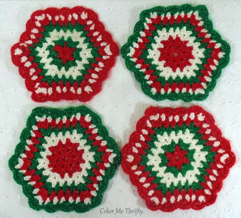 handmade crochet Christmas pothlders