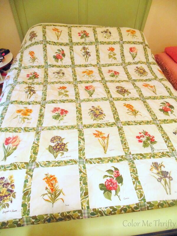 handmade floral quilt 1
