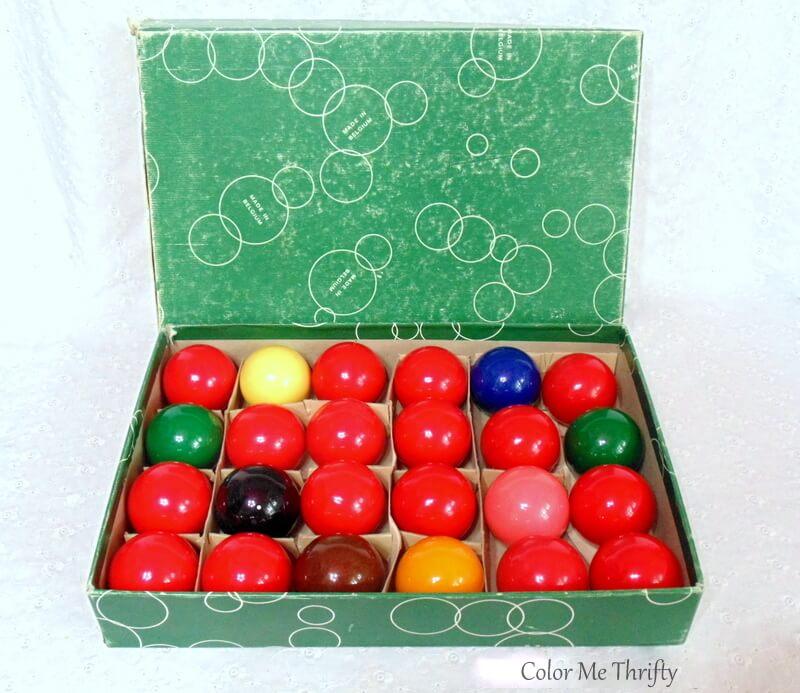 vintage Aramith snooker balls set