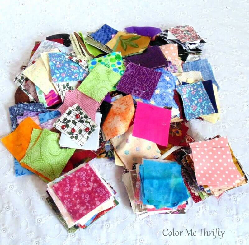 thrifted lot of 2 inch quilt squares