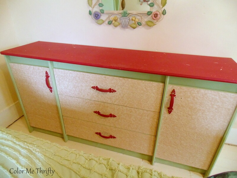 triple dresser before makeover