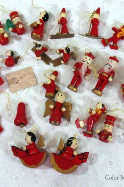 vintage wooden ornaments