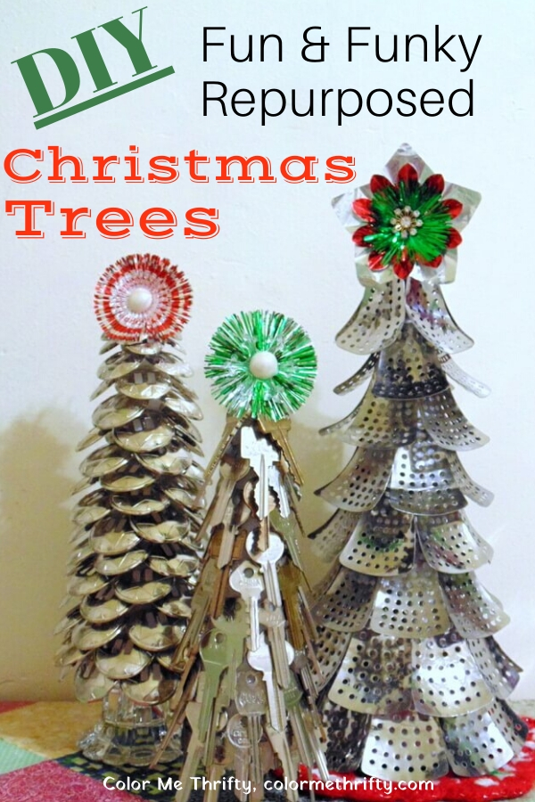 How to create three DIY Fun & Funky Christmas trees from repurposed materials